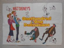 101 Dalmatians Walt Disney Film Poster - UK Quad